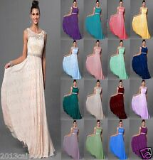 New Bridesmaid Floor Length Chiffon Evening Formal Party Prom Dress Size 6--18