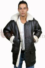 Mens Sheepskin Leather Duffle Sheepskin Jacket Coat