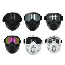 Cool Motorcycle Goggles Nose Face Mask Protective Helmet Riding Shield Flexible