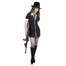 Adult Sexy Black/White Gangster Moll Costume