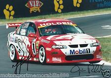 Mark Skaife Jim Richards SIGNED 6x4 or 8x12 photo V8 Supercars HRT BATHURST 2002