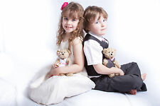 PAGE BOY AND BRIDESMAID TEDDY BEAR WEDDING GIFTS