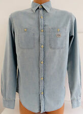 Blue cotton chambray stone washed shirt from Ralph Lauren Denim & Supply