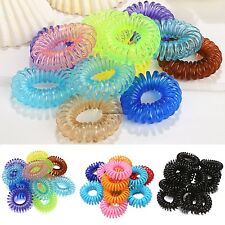 Girl Rope Elastic Rubber Hair Ties Hair Bands Bobbles Ponytail Holders 12pcs CaF