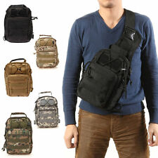 Outdoor Molle Sling Military Shoulder Tactical Backpack Camping Travel Bags FE