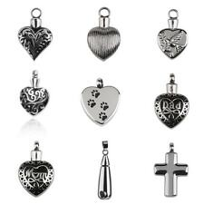 Various CREMATION JEWELRY Memorial Keepsake ASH URN HOLDER Necklace Pendant