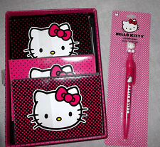HELLO KITTY Note Crads Set 3 Colors  + Pen