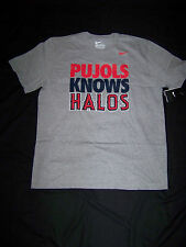 Nike Men's Los Angeles Angels Albert Pujols Shirt NWT Pujols Knows Halos