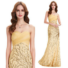 Formal Long Sequin Dress Evening Party Pageant Bridesmaid Wedding Outfit Gowns
