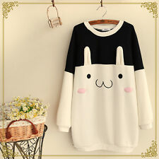 Cute Rabbit Thicken Sweatshirt Morl Girl Pullover Lolita Long Sleeve Sweater #C2