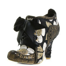 Womens Irregular Choice Abigails Third Party Gold Multi Ankle Boots UK Size