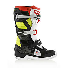 NEW Alpinestars Tech 7s YOUTH KIDS MX Motocross Boots - Black/Red/Fluo Yellow