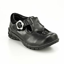 Carters Girls Dress Shoes Beta black solid butterfly velcro toddlers size 5 NEW