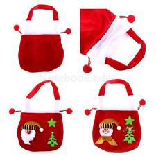 Snowman/Santa Christmas Red Cotton Cute Candy Bag Gift Pouch Wedding Party Favor