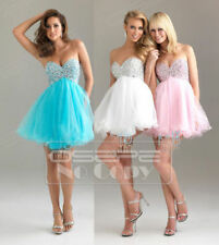 Stock Short Mini Prom Ball Cocktail Party Dress Formal Evening Gown Size 6-16