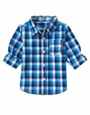NWT Crazy 8 Plaid Woven Shirt Multi Color Long Sleeves 2T 3T