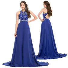 Sexy Halter Chiffon Long Bridesmaid Dress Evening Party Gowns Ball Cocktail Prom
