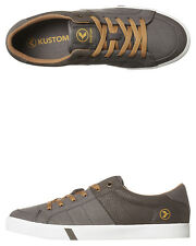 New Kustom Men's Kramer Shoe Canvas Mens Shoes Grey