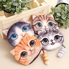 Cat Face Tail Coin Purse Kids Wallet Bag Change Pouch Key Holder Children Gift