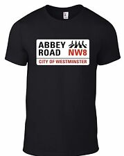 New The Beatles Abbey Road street sign TSHIRT with ZEBRA CROSSING Image ALLSIZES