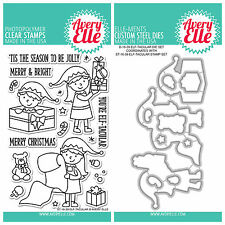 "Avery Elle ""ELF-TACULAR"" Clear Stamps Only OR Clear Stamp and Die Bundle"
