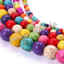 Wholesale 20-100 Turquoise Gemstone Round Loose Spacer Bead Jewelry Making Craft