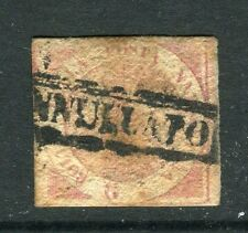 ITALY;  NAPLES 1850s classic Scarce Imperf 1/2g. used value