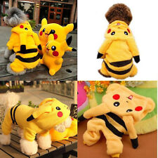 Pet Dog Cat Winter Clothes Coat Apparel Puppy Warm Jacket Hoodie Pikachu Costume
