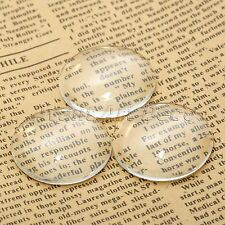 NEW Jewellery Making Glass Crystal Clear Round Cabochons Dome Flat Back 6mm-50mm