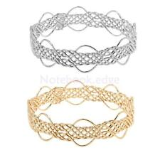 Fashion Braided Weave Hollow Cuff Bracelet Bangle Simple Style Jewelry Women