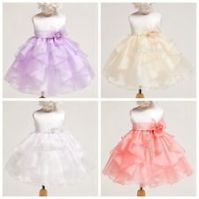 Baby Clothes Kid Flower Girls Birthday Dress Party Formal Pageant Wedding Dress