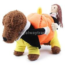 Pet Dog Cat Clothes Pumpkin Costume Puppy Halloween Party Apparel Coat Jacket