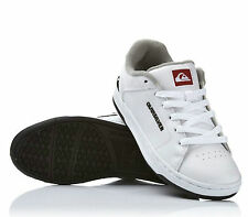 KIDS QUIKSILVER SHOES YOUTH LITTLE AREA 2 WHITE childs boys skate bmx trainers