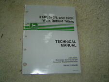 John Deere 314F walk behind tiller technical manual