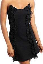 "NEW! ""Fashion Exit"" Sexy, Black, Clubwear / Cocktail Mini Strapless Dress, S M L"