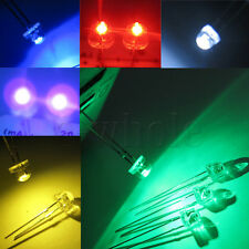 50x 5mm Round LED Light Water Clear Straw Hat 2pin DIP for Arduino DIY DE