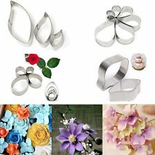 Stainless Steel Peony Flower Leaf Biscuit Fondant Cake Cookie Cutter Baking Mold