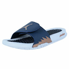 NIKE JORDAN HYDRO V RETRO SLIDE SANDALS OBSIDIAN METALLIC RED BRONZE 555501 408