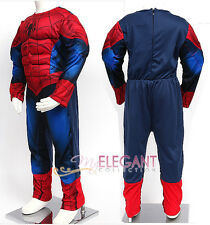 Ultimate Spider-Man Muscle Deluxe Children Boy Kids Halloween Costume 3-6 Year
