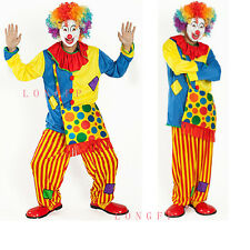 Adult Mens Funny Circus Clown Fancy Dress Party Costume Outfit Halloween Party