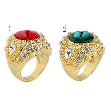 Retro Crown Rhinestone Ring Mosaic Carved Finger Rings Unisex for Wedding Party