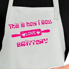 Personalized Rolling Pin Apron.  Custom Rolling Pin apron ~ This is How I Roll