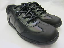 Boys Startrite Rhino Lace Up Shoes In Black Leather 'Mine'