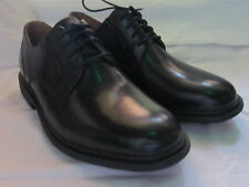 Clarks Unstructured 'Un Walk' Mens Black Leather Lace Up Shoes G Width Fitting