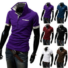 New Mens Casual Slim Fit POLO Shirt Short Sleeve Stylish T-Shirts Tee Shirt Tops