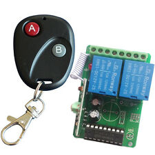 RF DC12V 2 Channel Wireless Remote Control Switch Receiver Contoller AU2