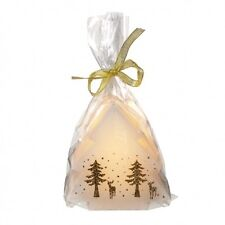 LED Christmas Candles - Tree - Deer - Gold - Battery Operated - Wax Feel