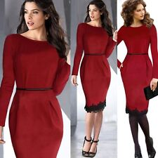 New Fashion Women Ladies Bandage Bodycon Formal Cocktail Pencil Lace Dress