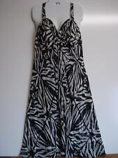 """DONNA RICCO BLK/WHT COCKTAIL HALTER  DRESS-SZ 12- SHEER SILK-LINED-SWING-NWT"
