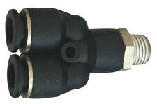 """3/8"""" OD x 1/8"""" Swivel Male Pipe WYE Push to Connect One Touch Air Fitting"""